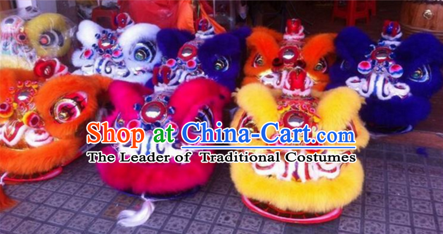 Top Chinese Red Lion Dance Equipment Complete Set Set for Big Events and Festivals
