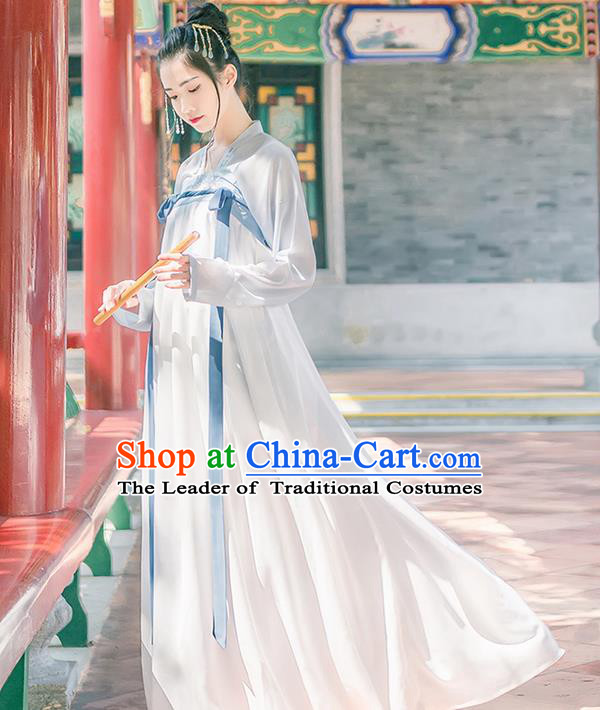 Traditional Chinese Tang Dynasty Imperial Princess Costume, Elegant Hanfu Clothing Blouse and Ru Skirts, Chinese Ancient Young Lady Dress for Women