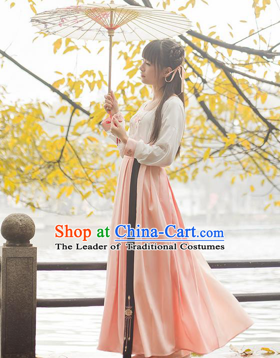 Traditional Chinese Song Dynasty Palace Princess Costume Complete Set, Elegant Hanfu Clothing Embroidered Dress, Chinese Ancient Princess Clothing for Women