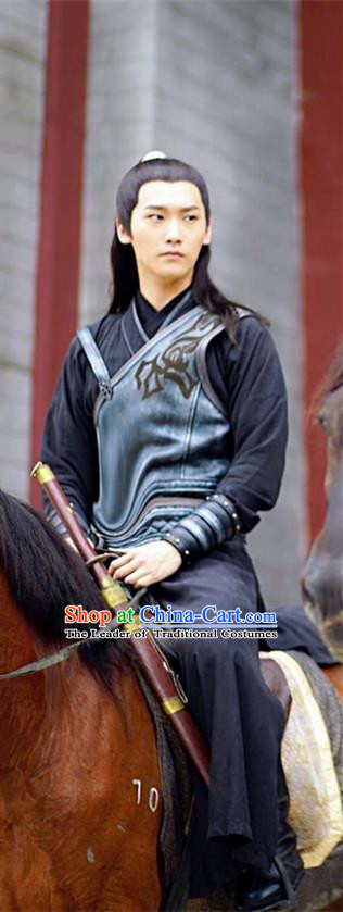 Traditional Ancient Chinese Swordsman Costume and Headpiece Complete Set, Princess Agents Chinese Southern and Northern Chivalrous Expert Clothing