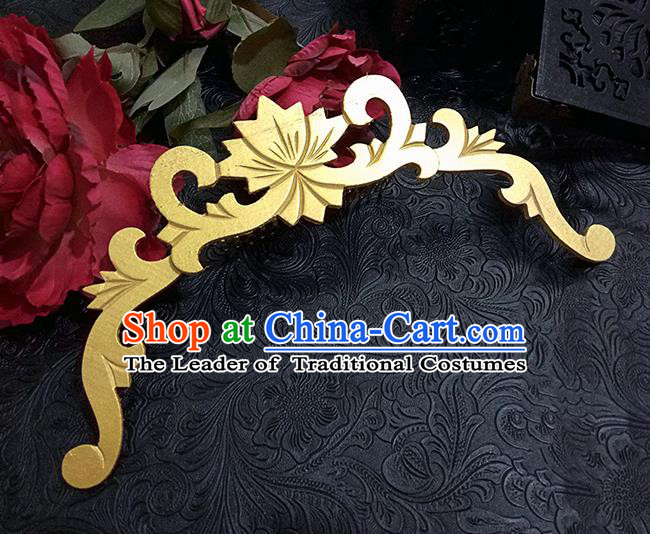 Top Grade Handmade Traditional China Accessories Headwear, Ancient Chinese Hanfu Golden Tuinga for Women