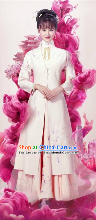Traditional Ancient Chinese Nobility Lady Costume and Headpiece Complete Set, Chinese Ming Dynasty Imperial Princess Embroidered Dress Clothing for Women