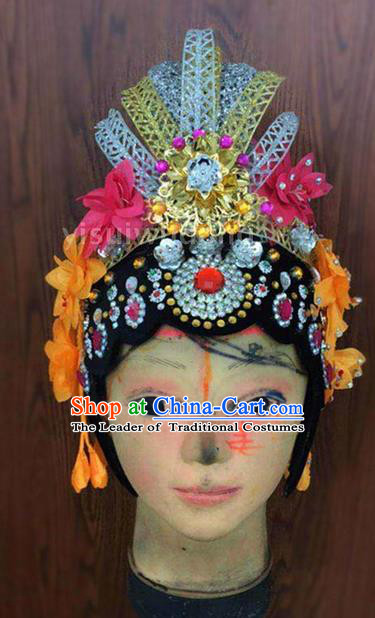 Traditional Chinese Beijing Opera Headdress, Ancient China Beijing Opera Dance Hair Accessories Headwear for Women