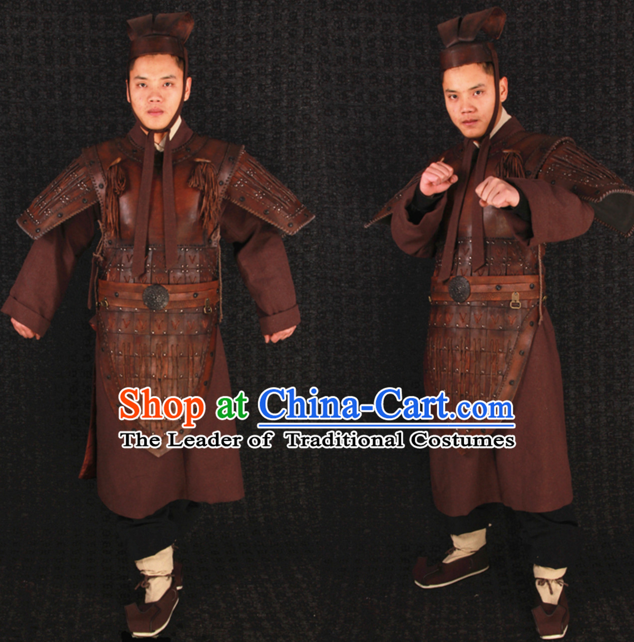 Top Traditional Ancient Chinese Knight General Armor Costumes Complete Set
