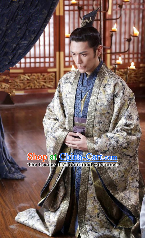 Asian Chinese Traditional Ancient Minister Costume, Lost Love In Times China Northern and Southern Dynasties High-ranking Official Prince Robe Clothing