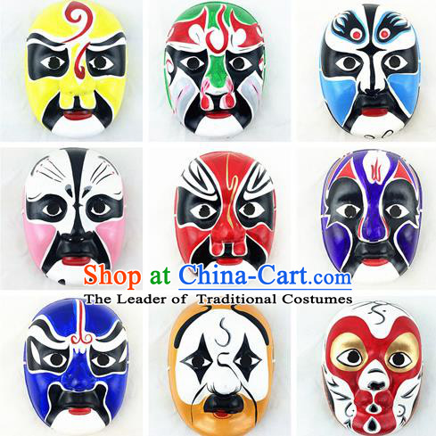 Asian Chinese Photography Film Props Traditional China Peking Opera Facial Makeup Beijing Opera Facial Masks