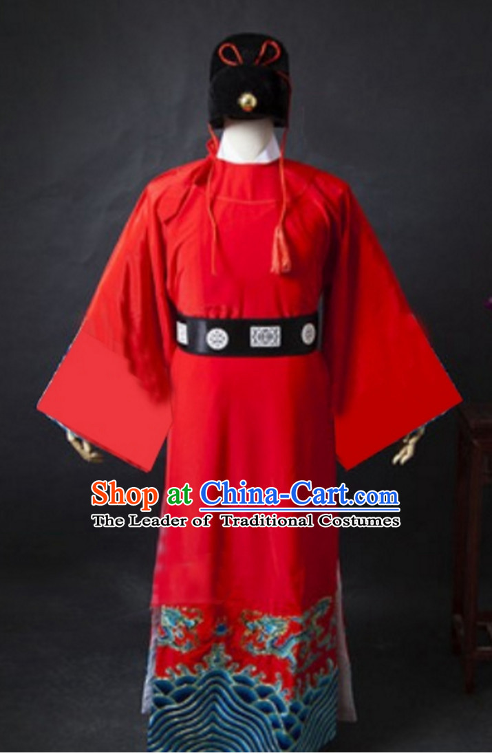 Ancient Zhan Zhao Costumes and Hat Complete Set