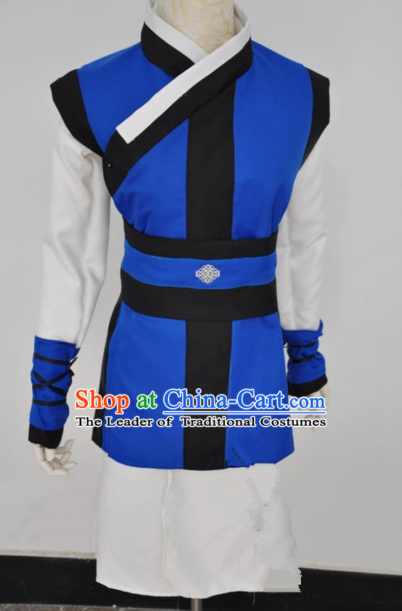 Chinese Ancient Cosplay Imperial Bodyguard Swordsman Costumes, Chinese Traditional Clothing Chinese Cosplay Knight Costume for Men