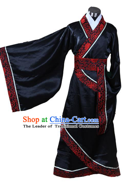 Traditional Chinese Han Dynasty Minister Costume, China Ancient Hanfu Bridegroom Wedding Clothing for Men