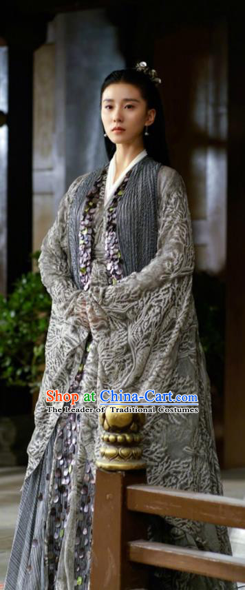 Traditional Chinese Southern and Northern Dynasties Saintess Swordswoman Costume, Lost Love In Times Chinese Ancient Fairy Hanfu Dress for Women