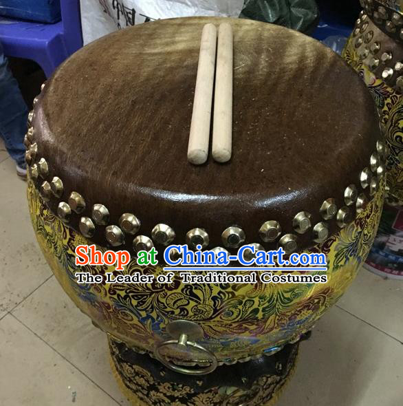 Dragon Dance Lion Dance Golden Drum Cowhide Drum Cart Musical Instrument Tupan Complete Set
