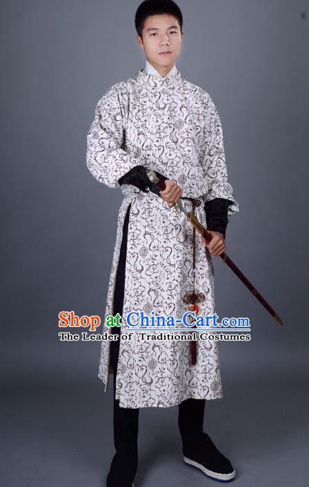 Traditional Chinese Tang Dynasty Minister Costume, China Ancient Hanfu Swordsman Clothing for Men