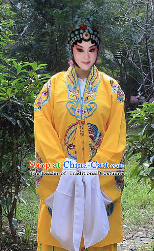 Traditional China Beijing Opera Young Lady Hua Tan Costume Imperial Empress Embroidered Cape, Ancient Chinese Peking Opera Female Diva Embroidery Dress Clothing