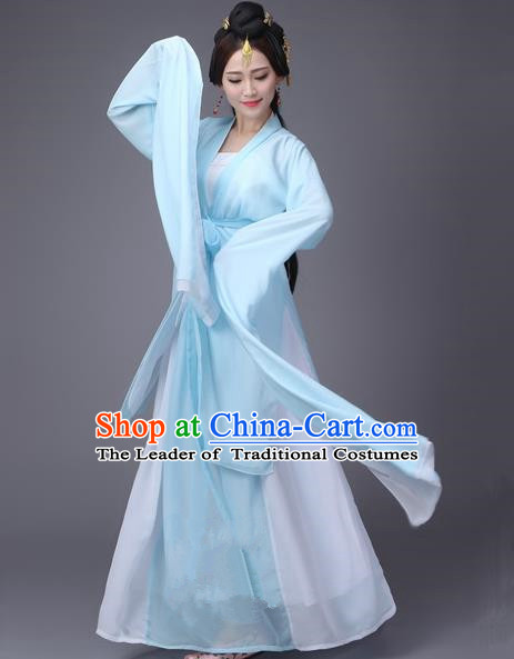 Traditional Ancient Chinese Princess Dance Costume, Elegant Hanfu Clothing Chinese Water Sleeve Dance Dress Clothing for Women