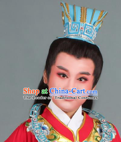 Traditional China Beijing Opera Young Men Hair Accessories Headwear, Ancient Chinese Peking Opera Niche Tuinga