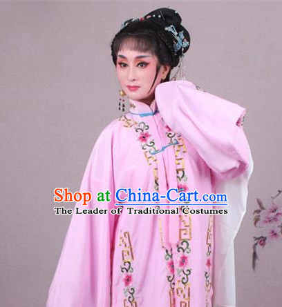 Top Grade Professional Beijing Opera Female Role Costume Pink Embroidered Cape, Traditional Ancient Chinese Peking Opera Diva Embroidery Clothing