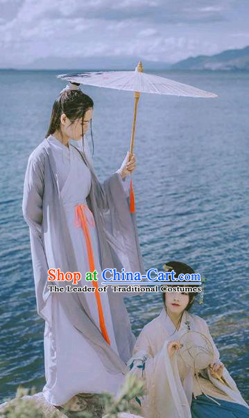 Traditional Chinese Ancient Swordswoman Costume, Elegant Hanfu Chinese Song Dynasty Heroine Dress Clothing