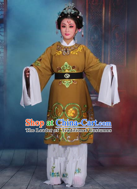 Traditional China Beijing Opera Old Women Costume Matchmaker Embroidered Ginger Clothing, Ancient Chinese Peking Opera Pantaloon Dress Clothing