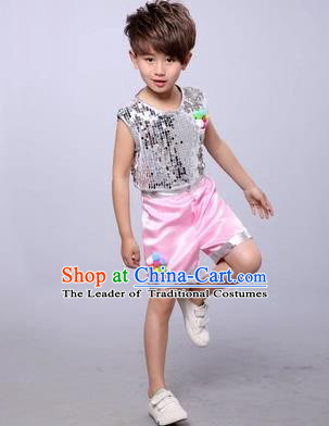 Top Grade Chinese Professional Performance Catwalks Costume, China Jazz Dance Modern Dance Uniform for Boys