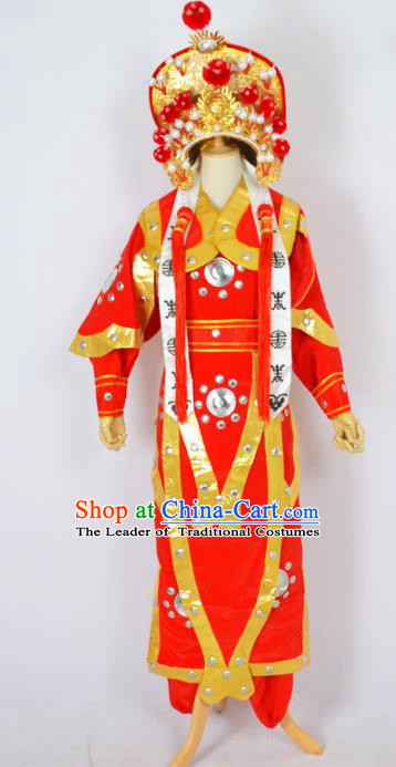 Traditional Chinese Professional Peking Opera Costume, China Beijing Opera Female General Hua Mulan Clothing and Headwear Complete Set
