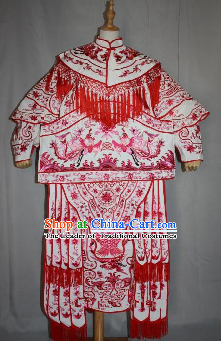 Traditional Beijing Opera Swordplay Embroidered Costume Female General Dress, Ancient Chinese Peking Opera Blues Embroidery Clothing