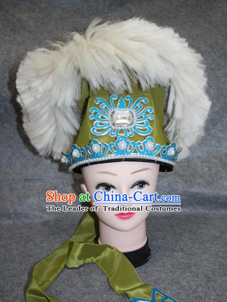 Traditional Handmade Chinese Ancient Classical Hair Accessories Peking Opera Niche Hat, China Beijing Opera Scholar Headwear