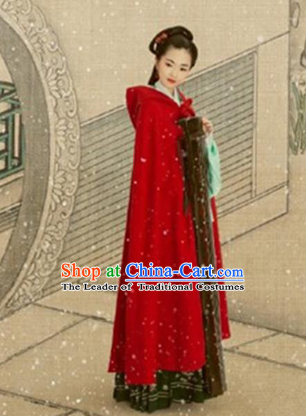 Traditional Chinese Hanfu Han Dynasty Costume Princess Cloak, Elegant Hanfu Clothing Chinese Ancient Palace Lady Mantle