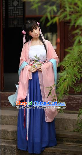 Traditional Chinese Han Dynasty Princess Costume, Elegant Hanfu Clothing Chinese Ancient Fairy Dress for Women