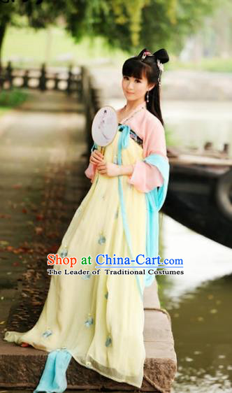 Traditional Chinese Tang Dynasty Princess Costume, Elegant Hanfu Clothing Chinese Ancient Fairy Palace Lady Dress for Women