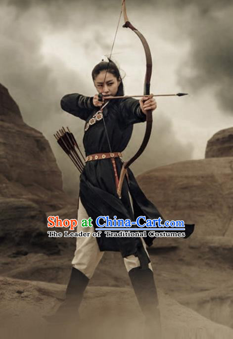 Traditional Chinese Ancient Ming Dynasty Young Lady Swordswoman Dress Clothing