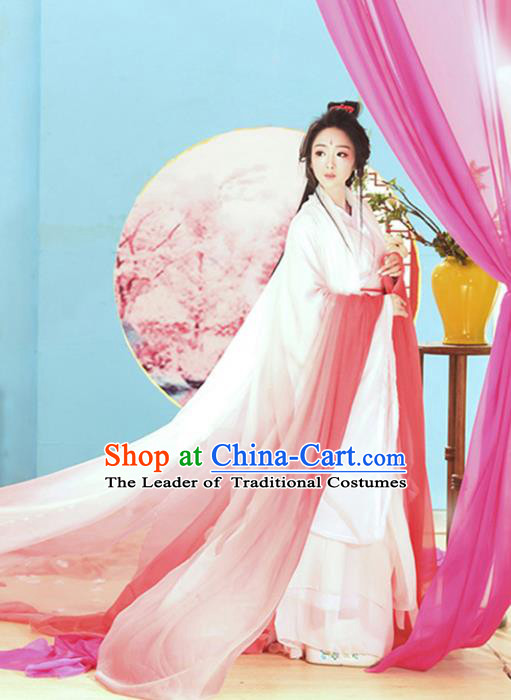 Traditional Ancient Chinese Princess Costume, Elegant Hanfu Clothing Chinese Tang Dynasty Fairy Dress Clothing for Women