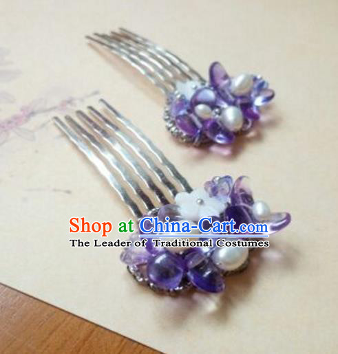 Traditional Handmade Chinese Ancient Classical Hair Accessories Hairpin Headwear Hair Comb for Women
