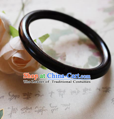 Chinese Handmade Classical Accessories Ebony Bracelet, China Hanfu Bangle for Women