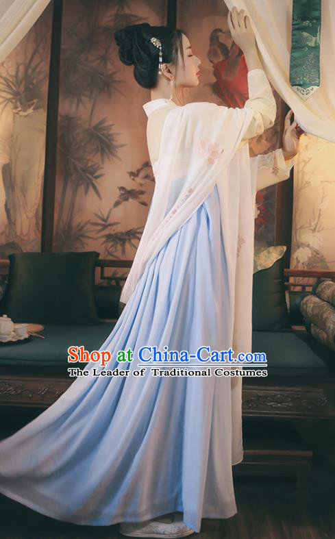 Traditional Chinese Ancient Hanfu Princess Costume Slip Skirts, Asian China Tang Dynasty Palace Lady Clothing for Women