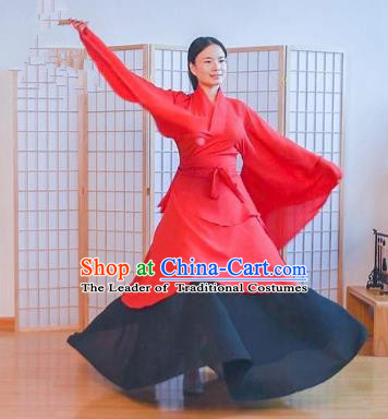 Traditional Chinese Ancient Young Lady Wedding Costume Complete Set, Asian China Han Dynasty Princess Embroidered Red Clothing for Women