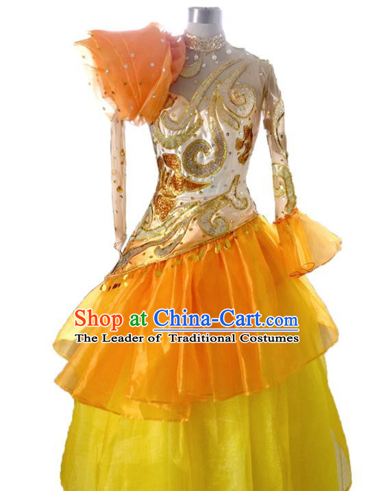 Traditional Chinese Modern Dancing Costume, Classical Opening Dance Costume Modern Dance Dress for Women