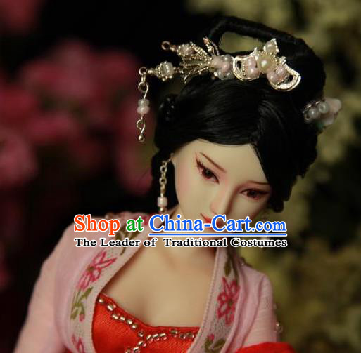 Traditional Handmade Chinese Hair Accessories Tang Dynasty Princess Headwear, China Ancient Imperial Concubine Hairpins
