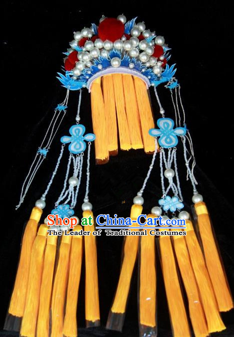 Traditional Handmade Chinese Ming Dynasty Hair Accessories Tassel Phoenix Coronet, China Ancient Palace Lady Wedding Headwear
