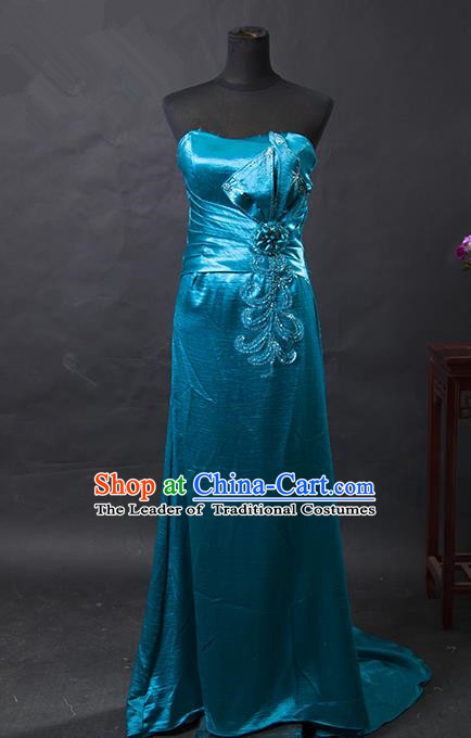 Traditional Chinese National Young Lady Green Qipao Costume, China Embroidered Cheongsam for Women