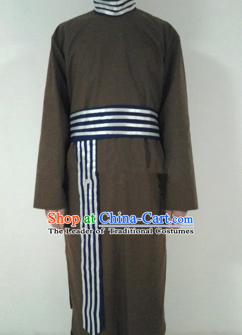 Traditional Ancient Chinese Swordsman Costume, Asian Chinese Ming Dynasty Government Runners Clothing for Men