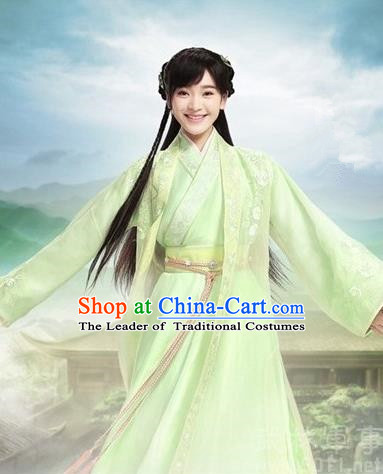 Traditional Ancient Chinese Swordswoman Costume, Asian Chinese Han Dynasty Princess Embroidered Clothing for Women