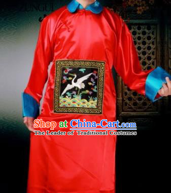 Traditional Ancient Chinese Manchu Minister Costume, Asian Chinese Qing Dynasty Royal Highness Embroidered Clothing for Men