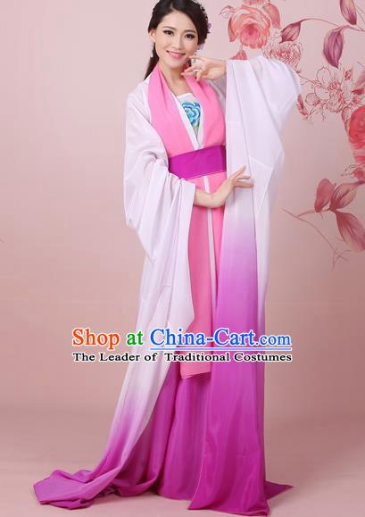 Traditional Ancient Chinese Tang Dynasty Princess Costume, Elegant Hanfu Clothing Chinese Palace Lady Embroidered Dress Clothing for Women