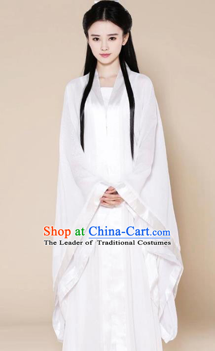 Traditional Ancient Chinese Tang Dynasty Swordswoman Costume, Elegant Hanfu Clothing Chinese Palace Lady Fairy Dress Little Dragon Maiden Clothing