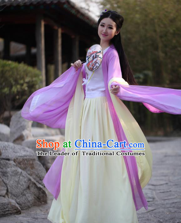 Traditional Ancient Chinese Nobility Lady Embroidered Costume Cardigan and Slip Skirt, Elegant Hanfu Chinese Tang Dynasty Princess Dress Clothing