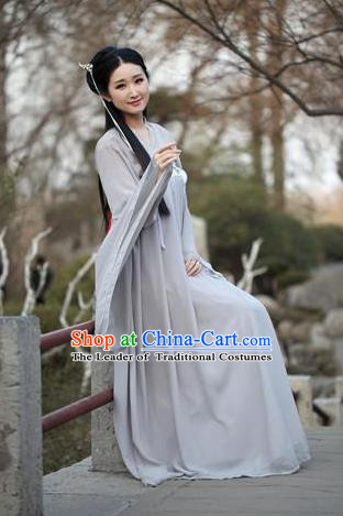 Traditional Ancient Chinese Palace Princess Embroidered Costume Fairy Slip Skirt, Elegant Hanfu Chinese Tang Dynasty Young Lady Dress Clothing