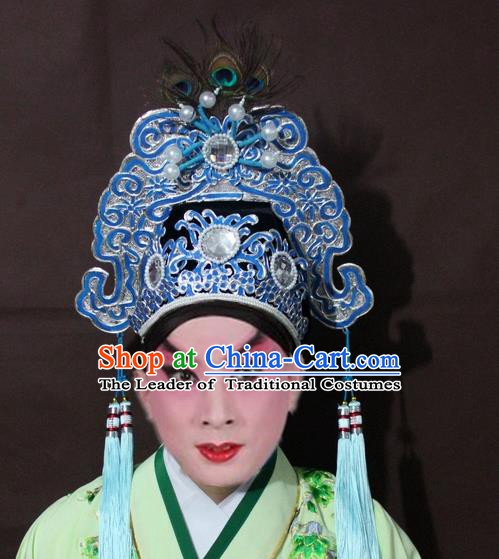 Traditional Chinese Handmade Hair Accessories Beijing Opera Niche Hats Headwear for Men