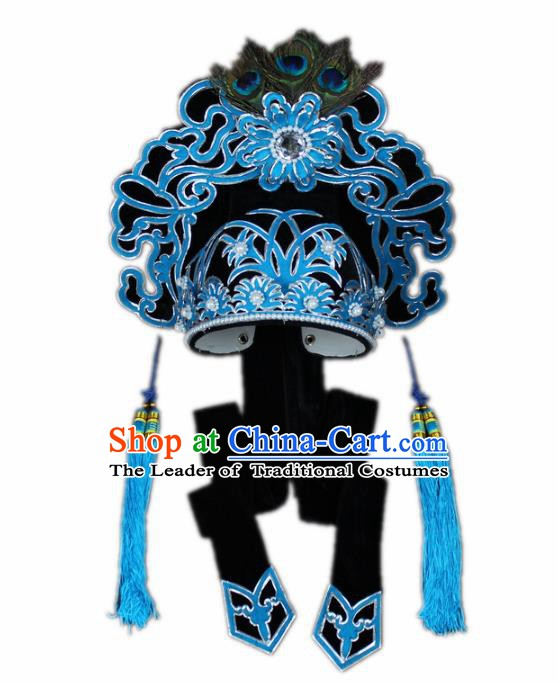 Traditional China Beijing Opera Scholar Hats, Chinese Peking Opera Niche Headwear