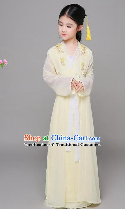Traditional Chinese Song Dynasty Children Costume, China Ancient Princess Hanfu Dress for Kids