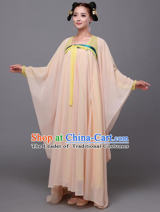 Traditional Chinese Tang Dynasty Court Maid Costume, China Ancient Palace Princess Hanfu Dress Clothing for Women